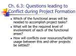 ch 6 3 questions leading to conflict during project formation