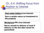 ch 6 4 shifting focus from position to interest