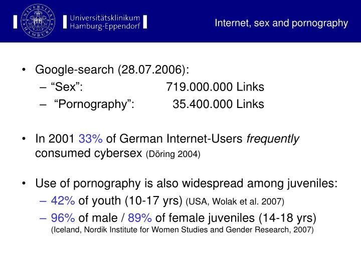 Internet sex and pornography