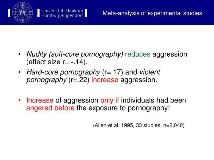 Meta-analysis of experimental studies