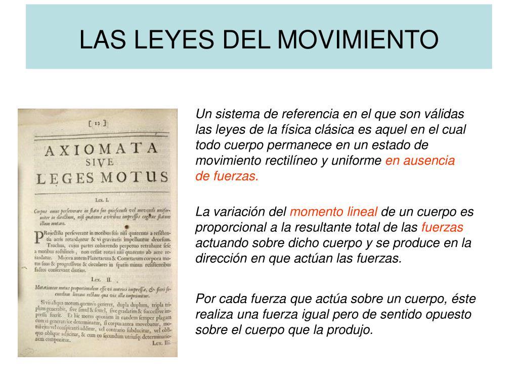 las leyes del movimiento