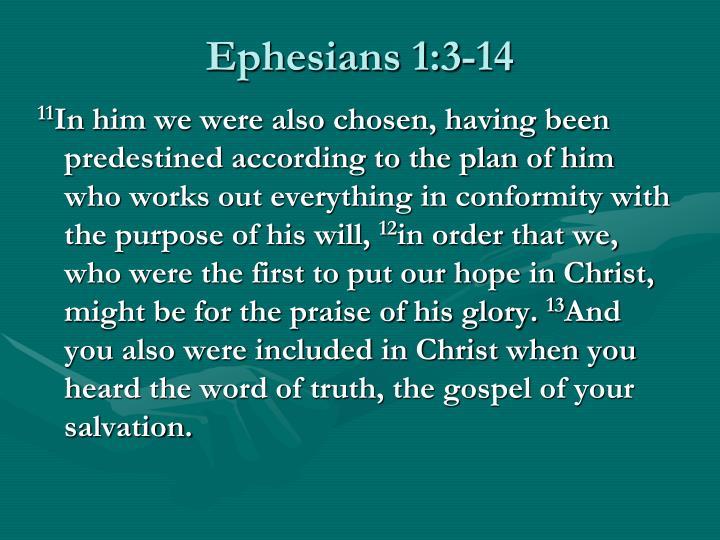Ephesians 1:3-14
