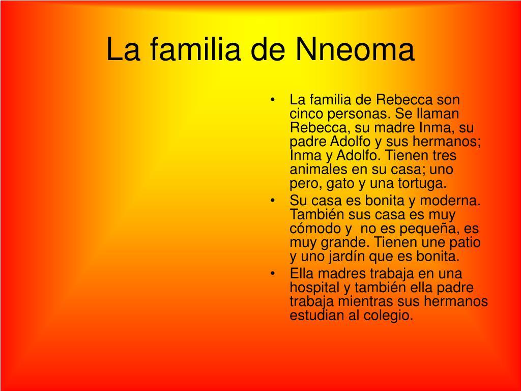 La familia de Nneoma