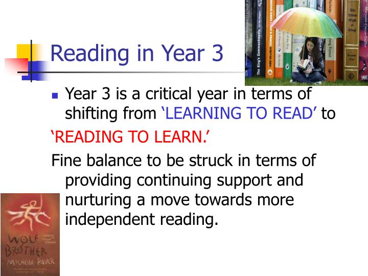 Reading in Year 3