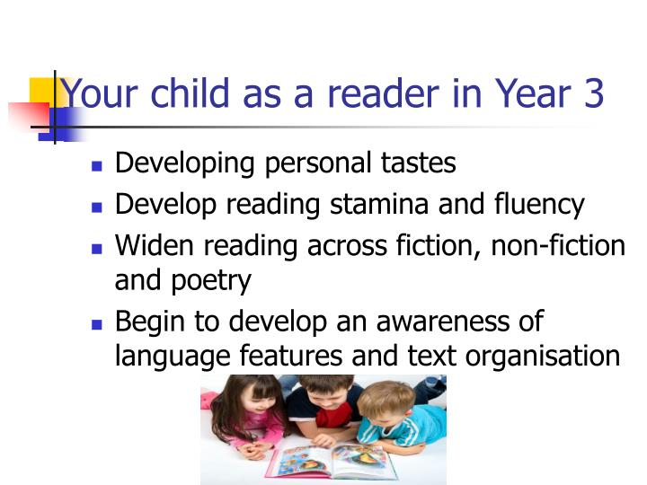 Your child as a reader in Year 3