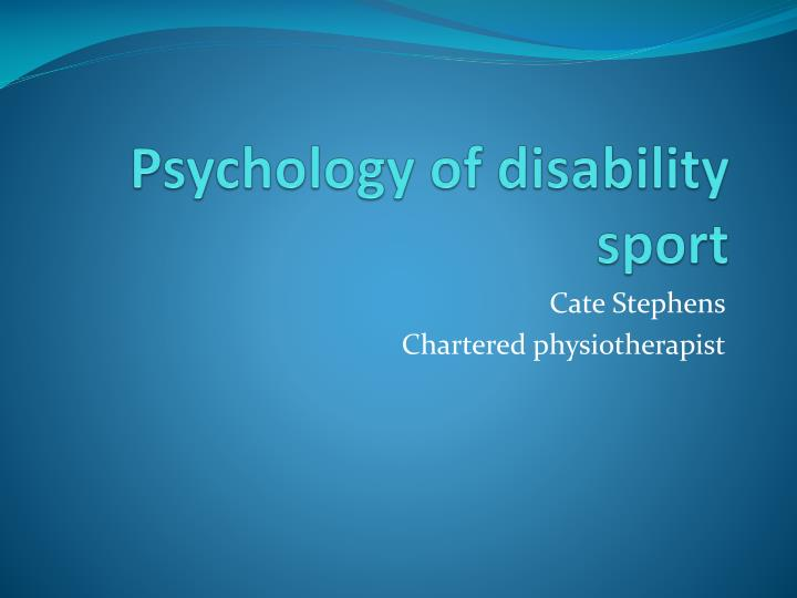 psychology of disability sport n.