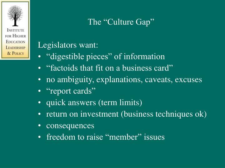 "The ""Culture Gap"""