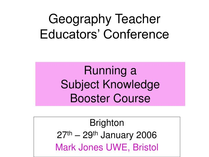 geography teacher educators conference n.