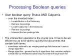 processing boolean queries