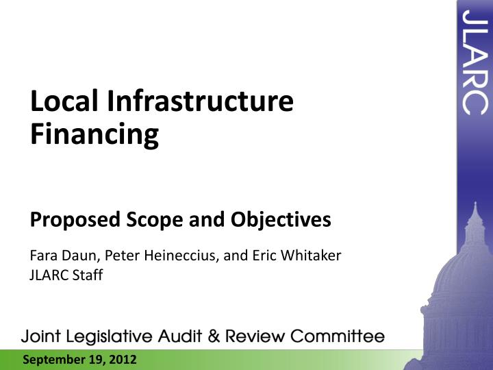local infrastructure financing n.