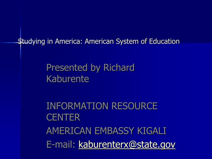 studying in america american system of education n.