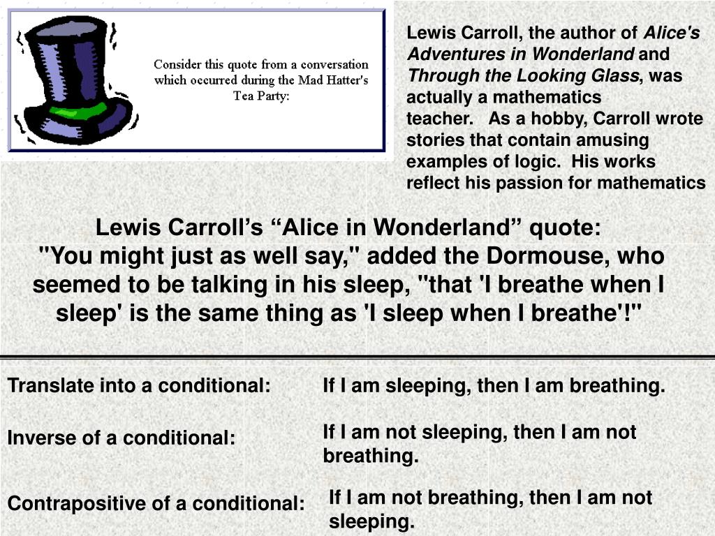 Lewis Carroll, the author of