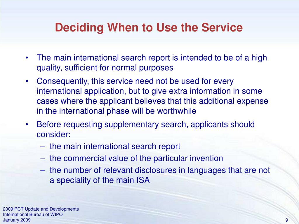 Deciding When to Use the Service