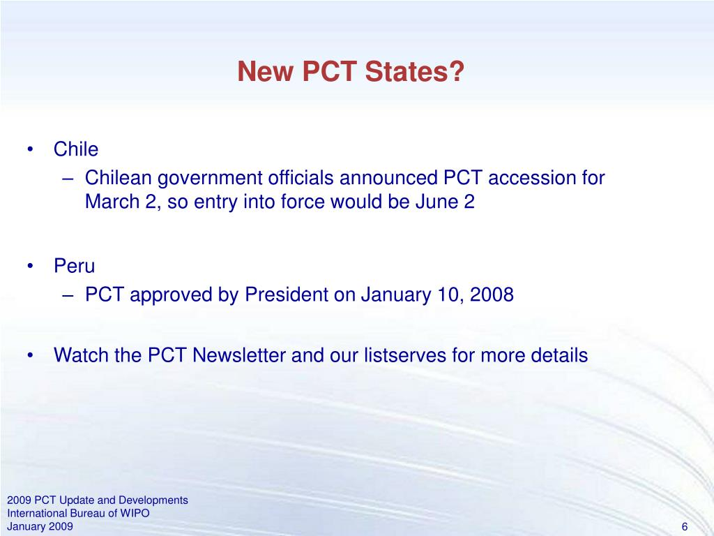 New PCT States?