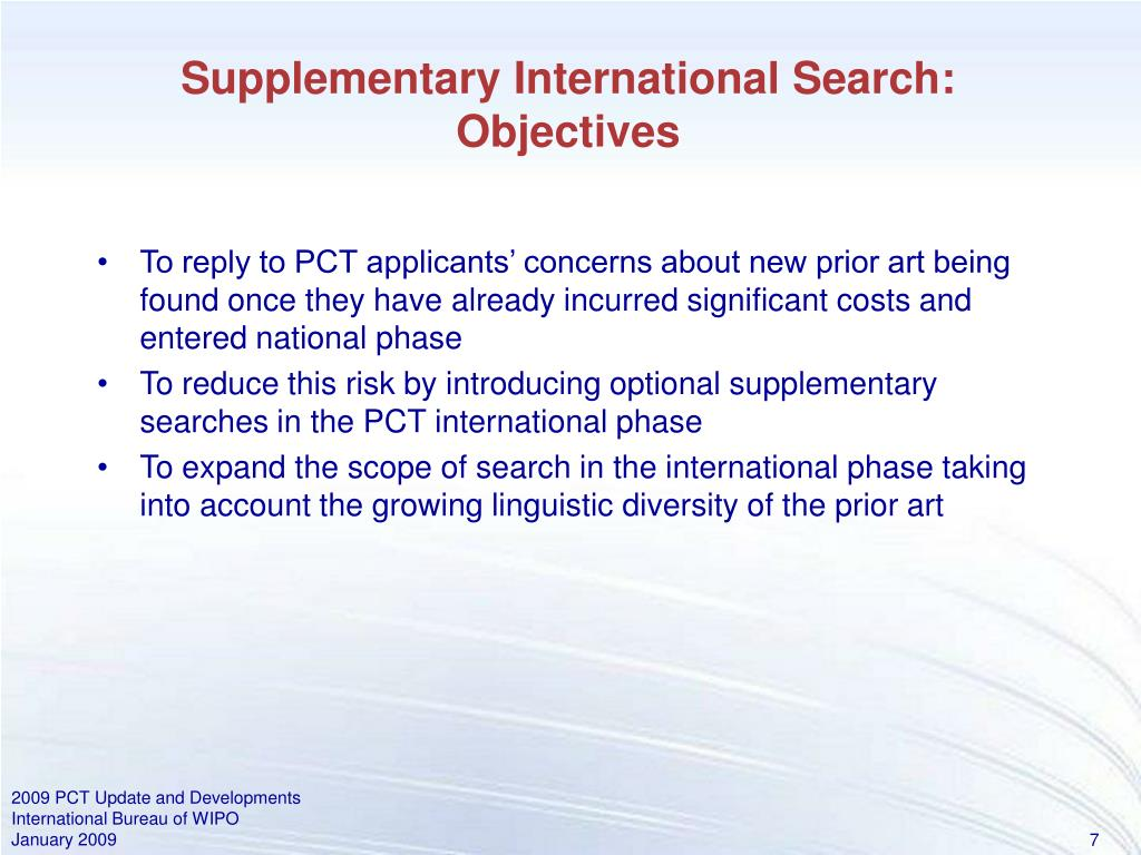 Supplementary International Search: