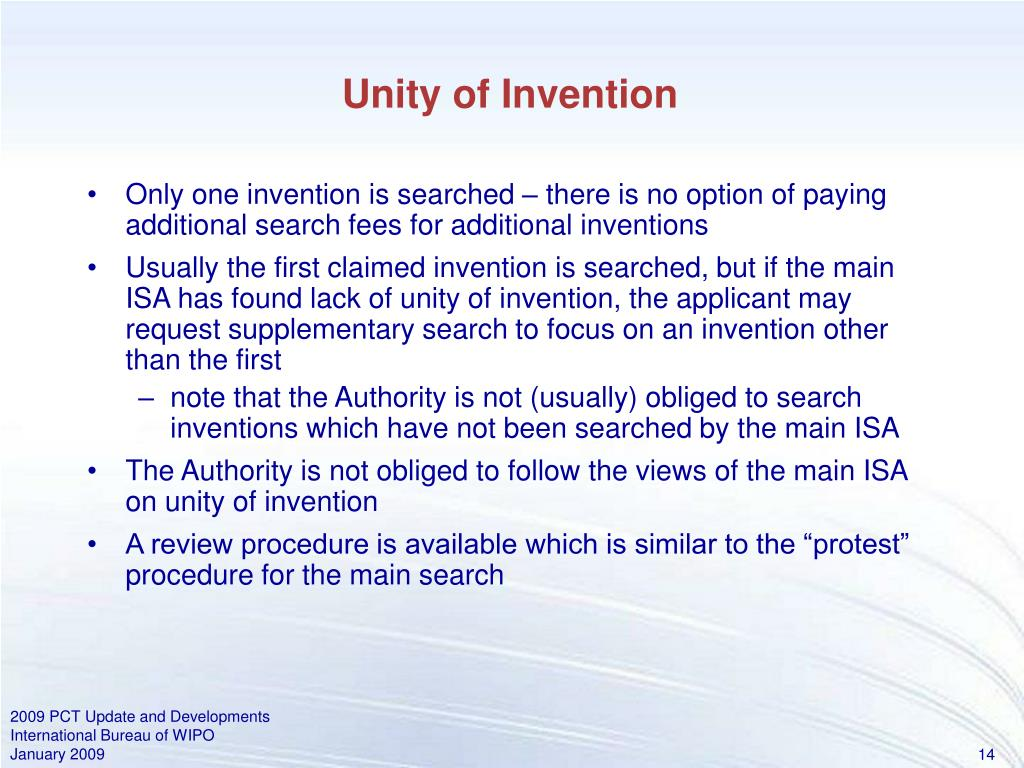 Unity of Invention