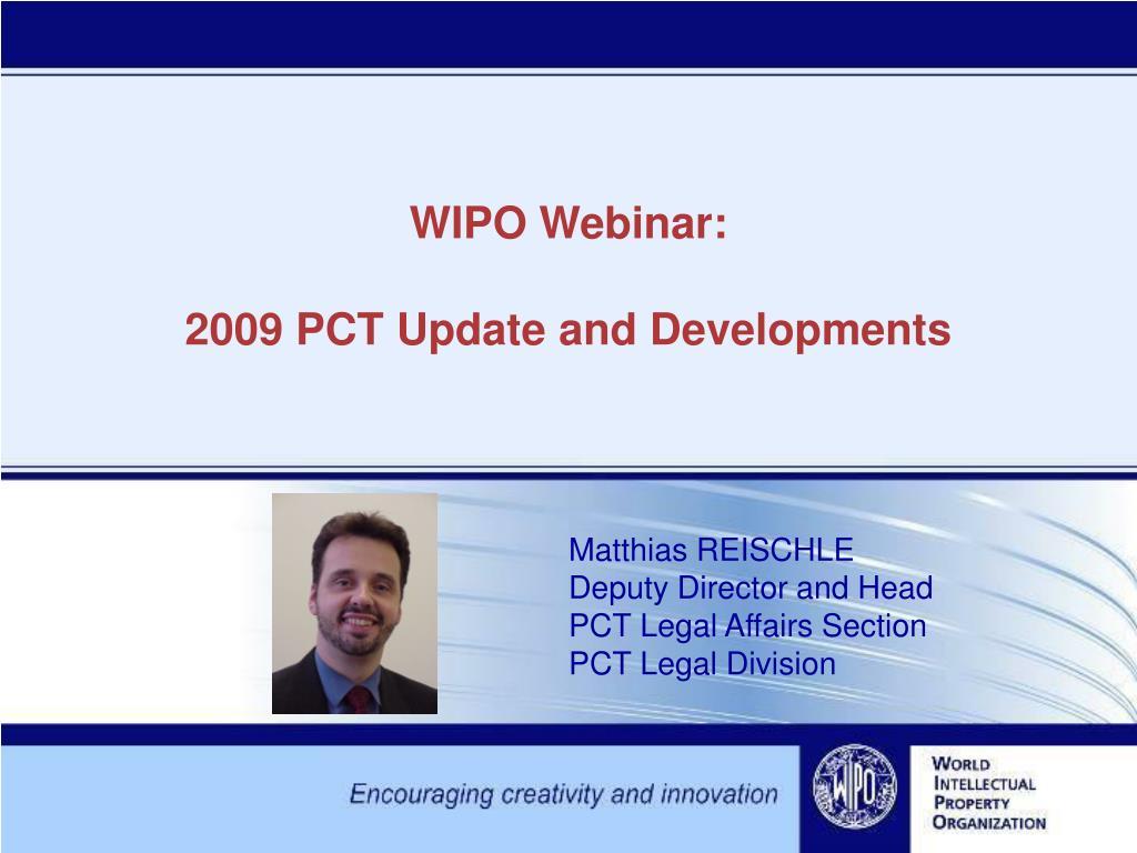 WIPO Webinar: