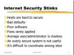 internet security stinks