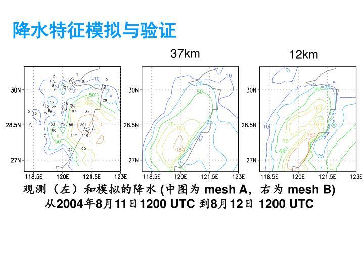 降水特征模拟与验证