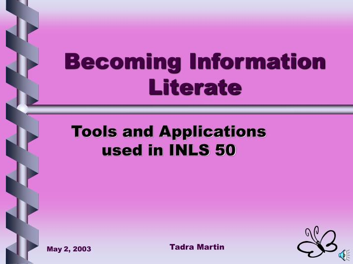 becoming information literate n.