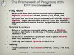 the framework of programs with cfp involvement