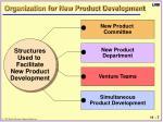 organization for new product development
