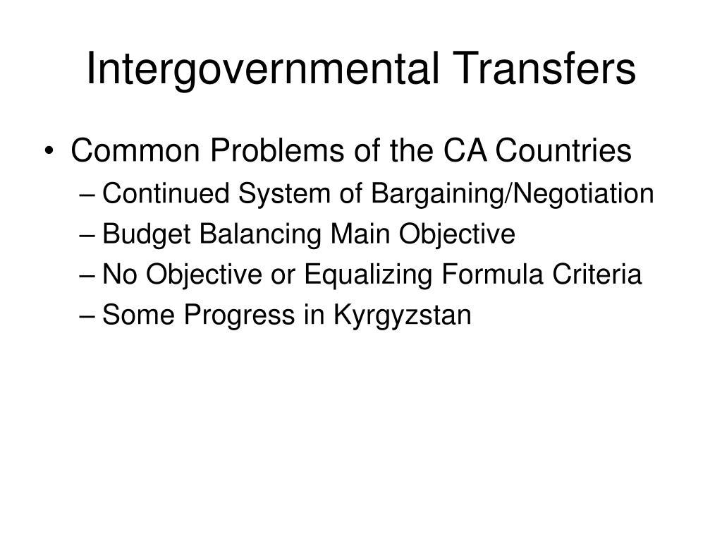 Intergovernmental Transfers