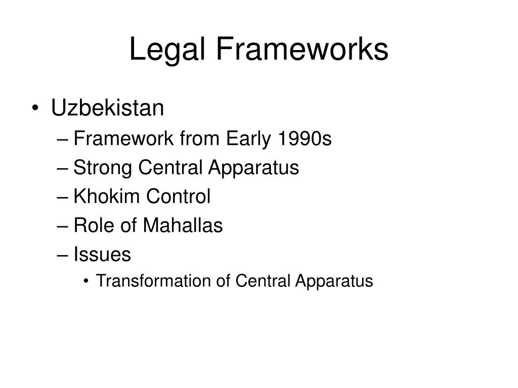 Legal Frameworks