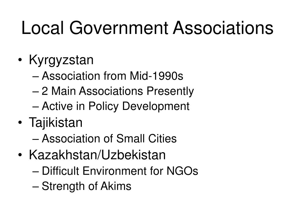 Local Government Associations