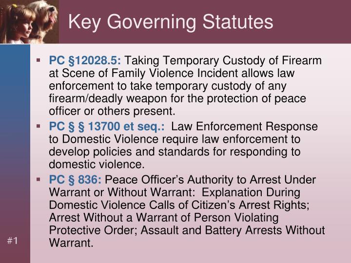 Key Governing Statutes