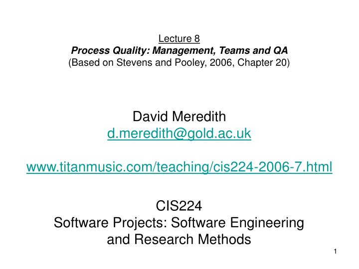 cis224 software projects software engineering and research methods n.