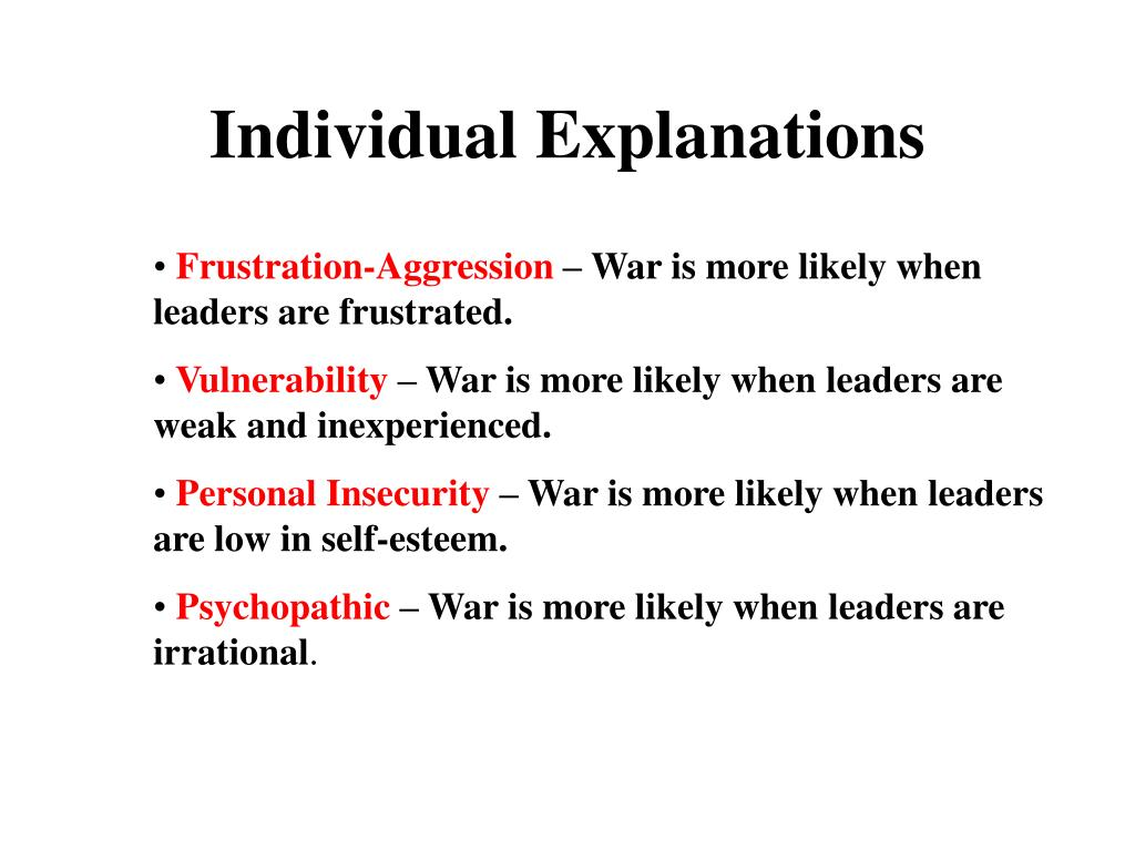Individual Explanations