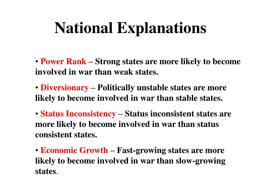 National Explanations