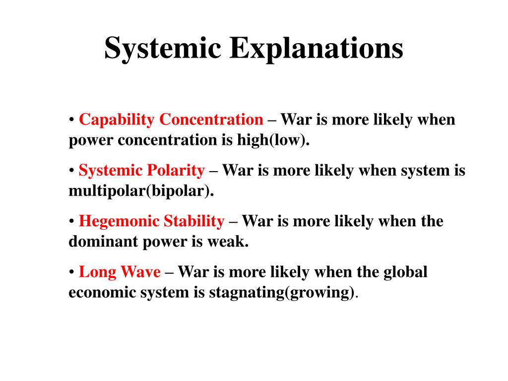 Systemic Explanations