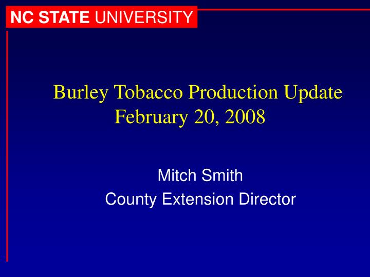 mitch smith county extension director n.