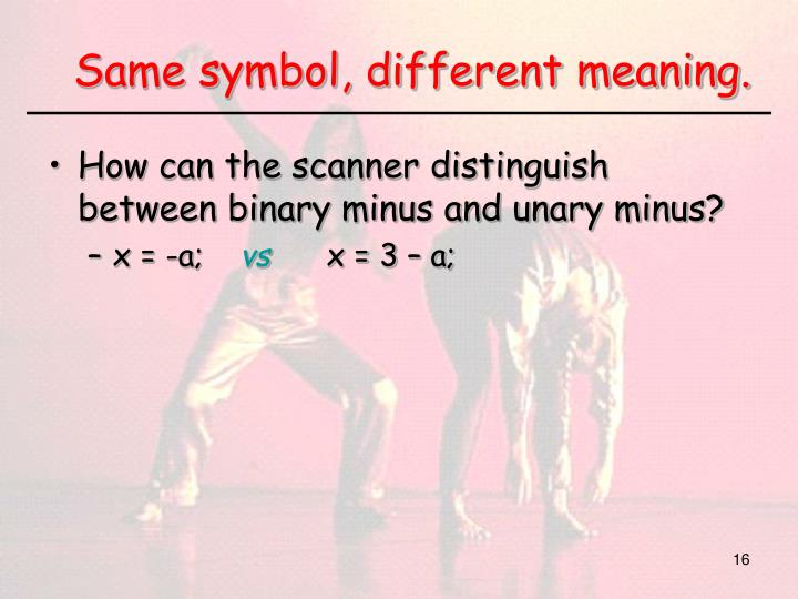 Same symbol, different meaning.