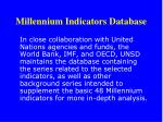 millennium indicators database