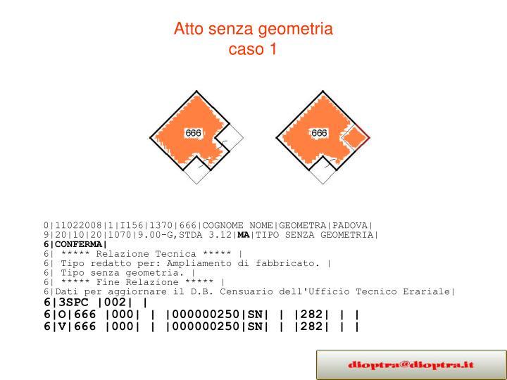 Atto senza geometria caso 12