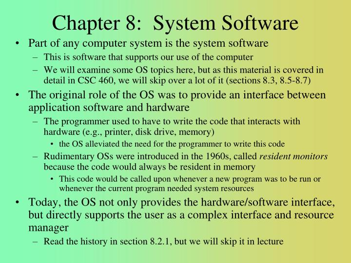 chapter 8 system software n.