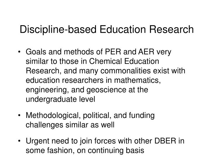 Discipline-based Education Research