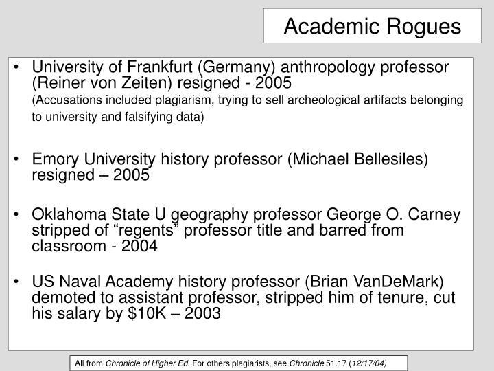 Academic Rogues