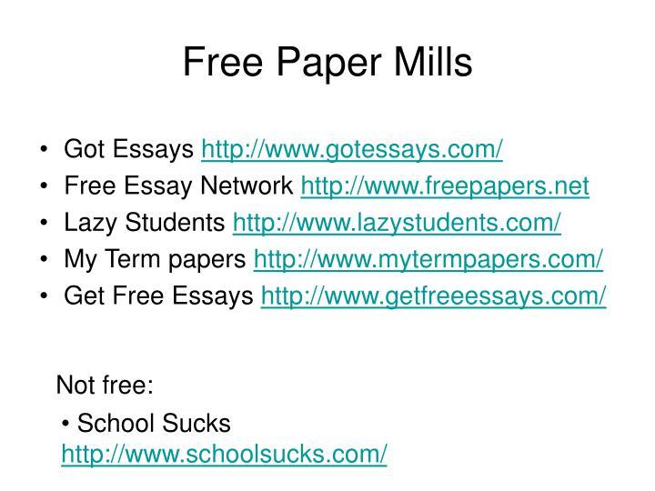 Free Paper Mills