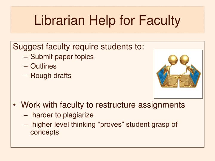 Librarian Help for Faculty