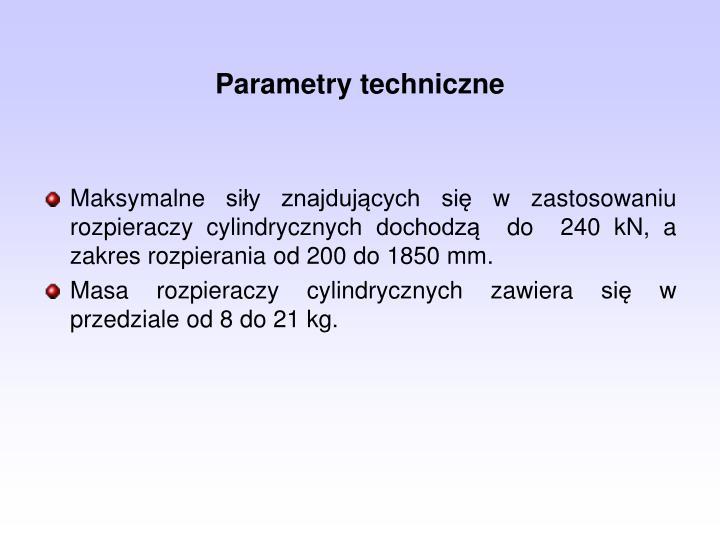 Parametry techniczne