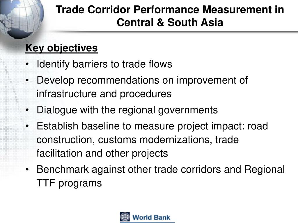 Trade Corridor Performance Measurement in Central & South Asia