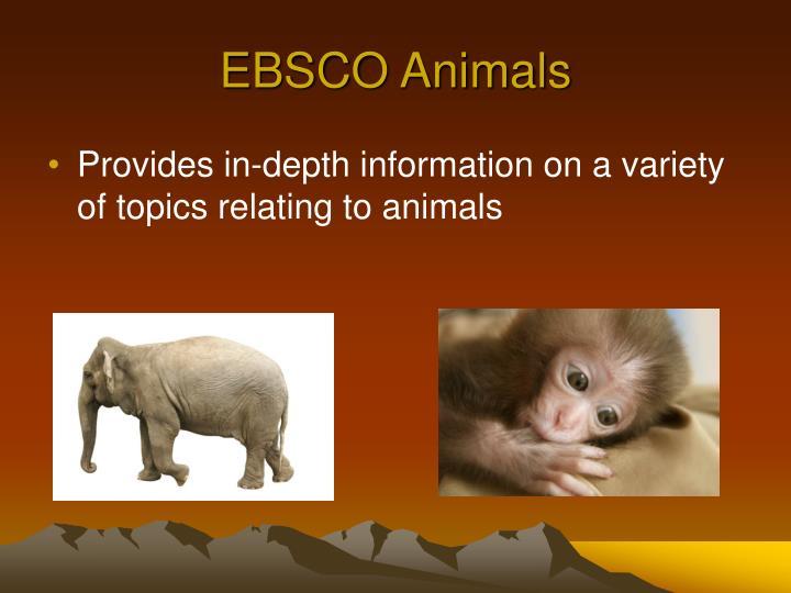 EBSCO Animals