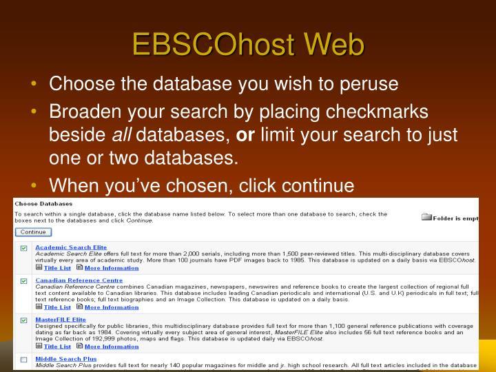 EBSCOhost Web