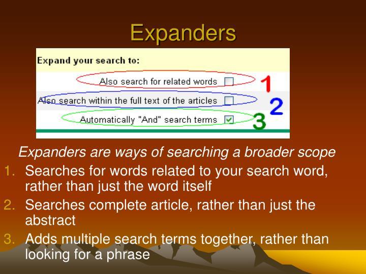 Expanders
