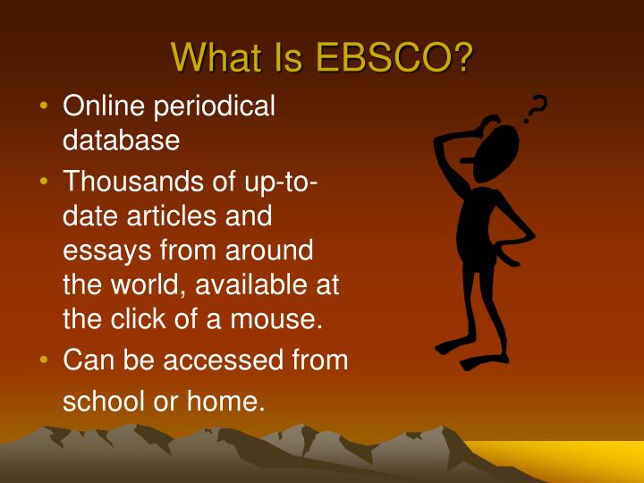 What is ebsco