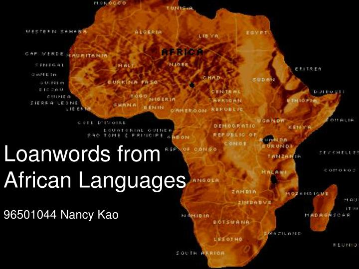 loanwords from african languages n.